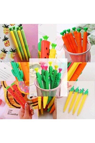 5'li 0.7 Uçlu Versatil Kalem Seti - Kaktüs, Karpuz,mısır,ananas,havuç