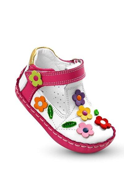 Kız Bebek Pembe Ilkadım Hakiki Deri Ortopedik Ayakkabı Itdk 205 Babet