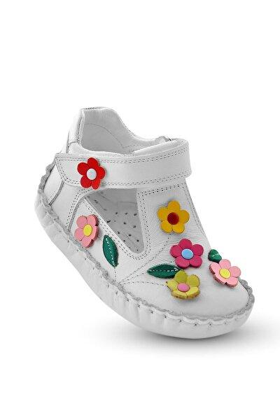 Ilkadım Hakiki Deri Kız Bebek Çocuk Ortopedik Ayakkabı Patik Itdk 205 Beyaz