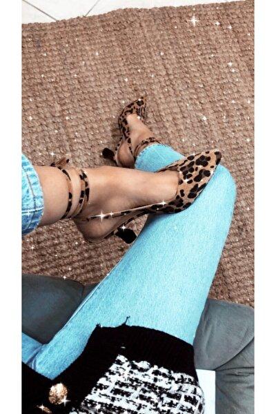 Leopar Kadın Klasik Topuklu Ayakkabı