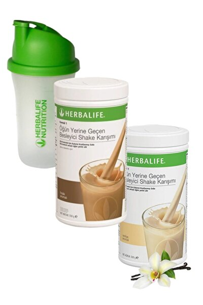Formül 1 Shake Karışım Seti Vanilya + Fındık 550 gr + Shaker