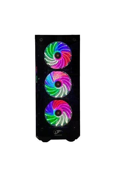 Rc-07 X-fıre Rainbow Fanlı 4*120 Mm Gaming Boş Bilgisayar Kasası psu Hariç