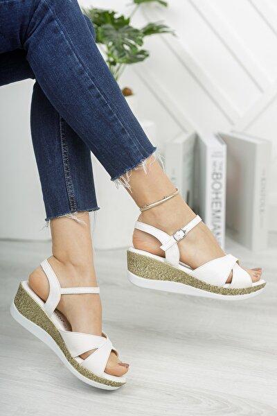 Arora Yazlık Dolgu Tokalı Kadın Sandalet