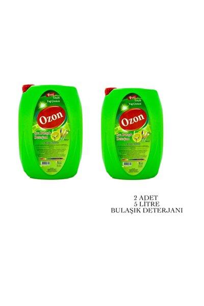 2 Adet 5l Deterjan Ozon Sıvı Bulaşık Deterjanı Limon Kokulu