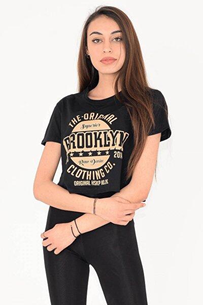 Kısa Yazılı Tişört Broklyn