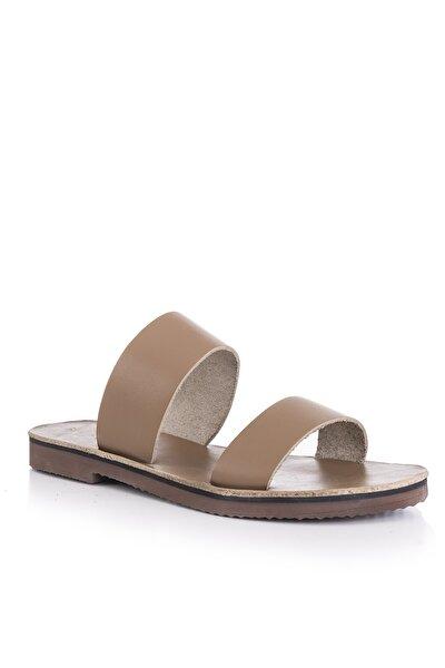Kadın Haki El Yapımı Hakiki Deri Sandalet 5010