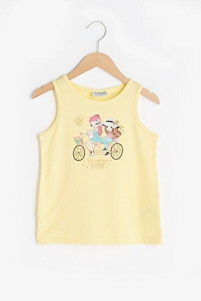 Kız Çocuk Sarı Fsr T-Shirt