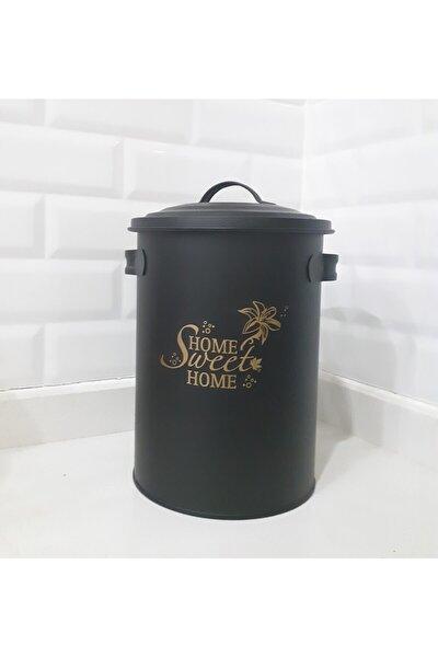 Siyah Metal Sweet Home Saklama Kovası 3lt