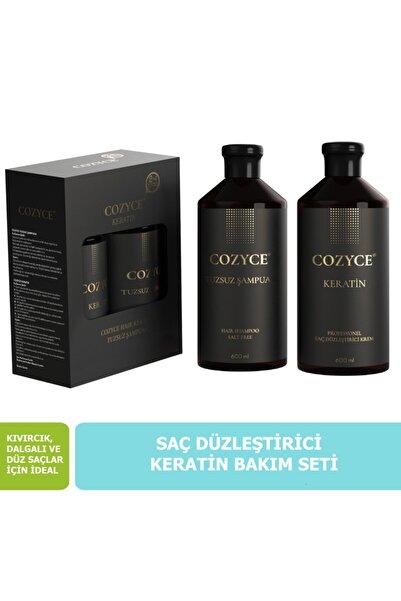Tuzsuz Şampuan 600 ml + Keratin Saç Bakımı 600 ml Brezilya Fönü Keratini 2'li Set