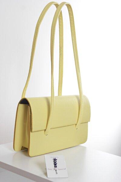 Loxxa Iki Saplı Sarı Kadın Baguette Çanta