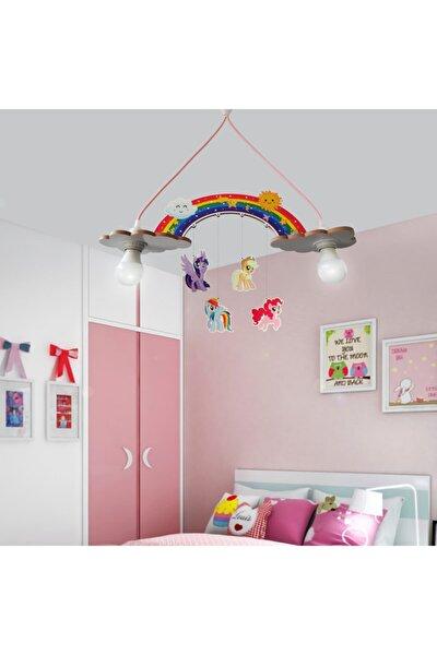 Ahşap Pony Çocuk Odası Aydınlatma