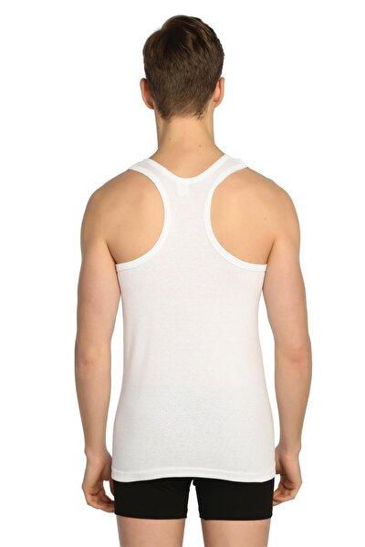 Erkek Beyaz Askılı 6'lı Ribana Spor Atlet