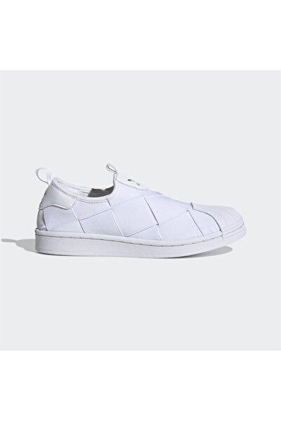 Kadın Beyaz Superstar Slip-On Günlük Spor Ayakkabı