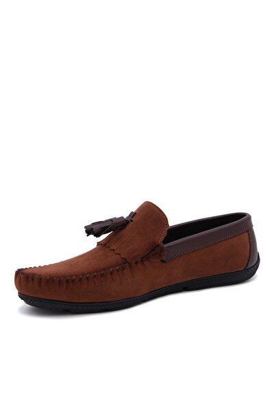 Taba Süet Loafer Ayakkabı 358