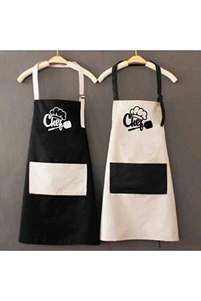 Kadın Ve Erkek Eşli Nakış Işlemeli Sevgili Kombin Mutfak Önlüğü Chef Önlük