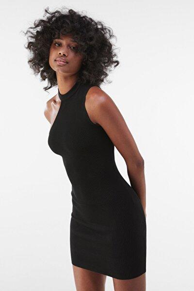 Kadın Siyah Asimetrik Elbise 00517623