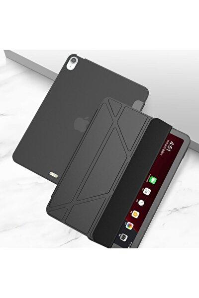 Ipad Air 4 10.9 Inç Kılıf Trifolding Arkası Silikon Smart A2072 A2316 A2324 A2325