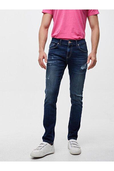 Erkek Lacivert Fredo Sabrına Wash Pantolon