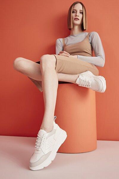 Beyaz Kadın Sneaker 01AYY205500A903