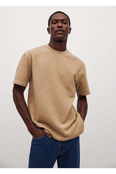 Erkek Relaxed Kesim Pamuklu Tişört