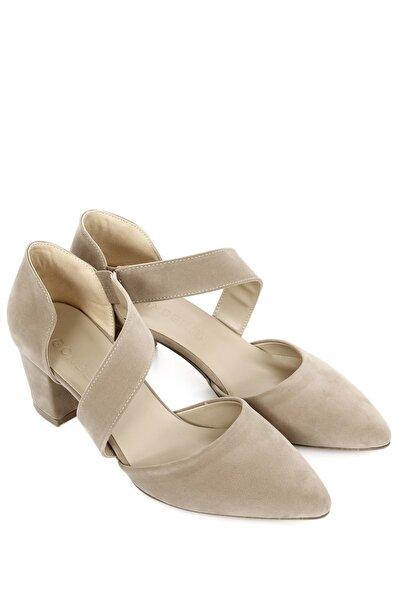 Ten Süet Kadın Klasik Topuklu Ayakkabı 35932