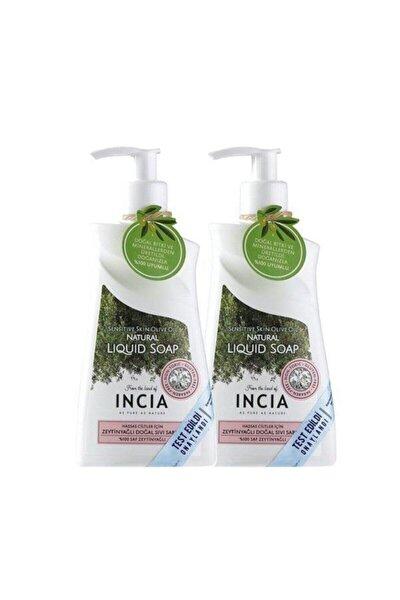 Incıa Hassas Ciltler Için Zeytinyağlı Sıvı Sabun 2x250 ml