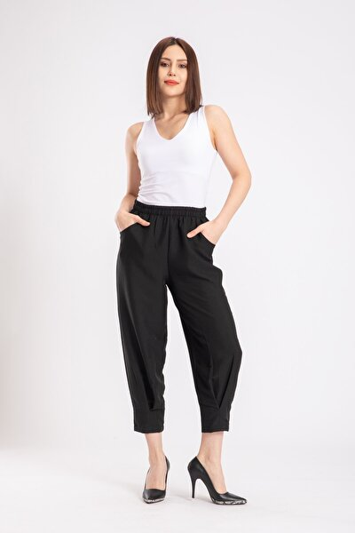 Kadın Siyah Aerobin Pantolon