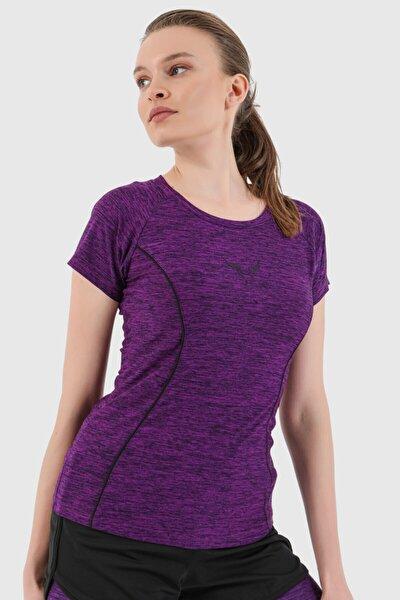 Kadın Mor Sporcu T-Shirt