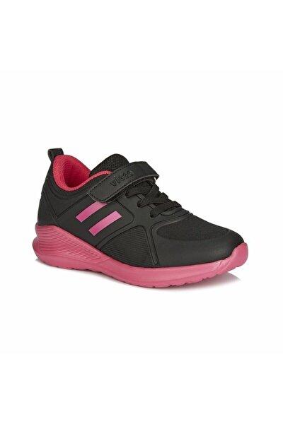 Siyah Pembe Cırtcırtlı Patik Spor Ayakkabı 346.20k.164