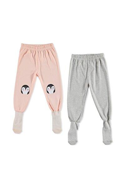 Erkek Bebek Somon Çoraplı Pijama Pantolon 2li