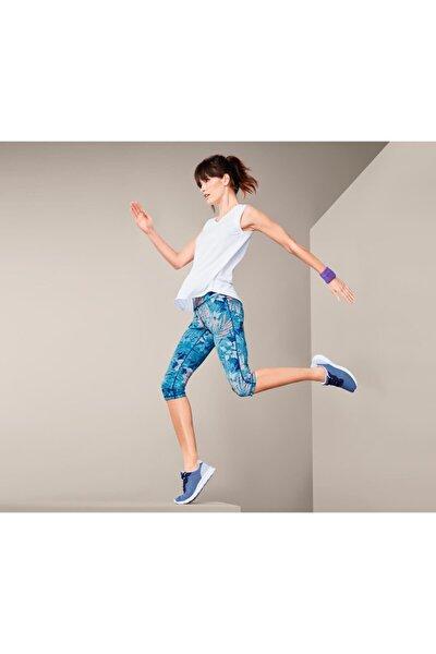 Kadın Lacivert Kısa Spor Taytı