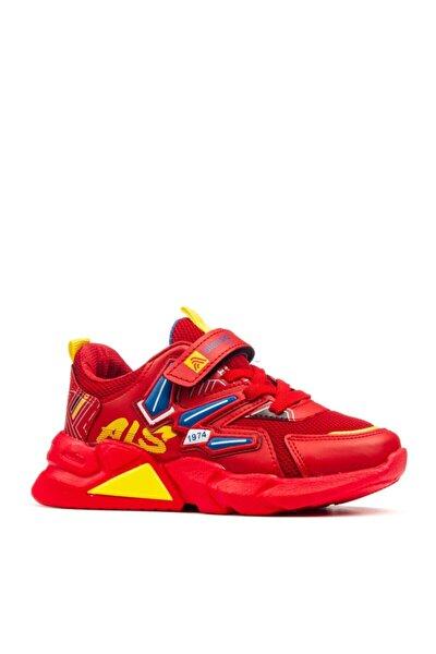 Unisex Kırmızı Çocuk Okul Ve Spor Ayakkabı