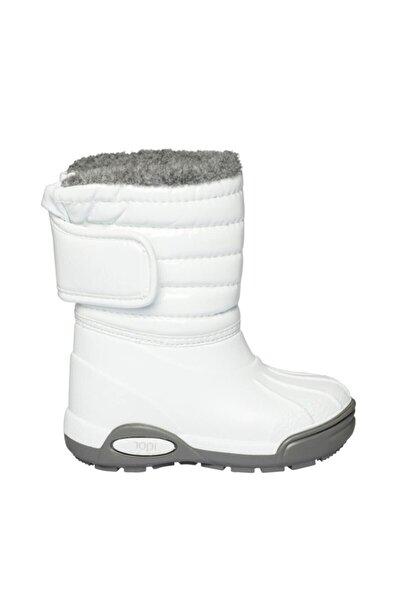 10168k Topo Ski Charol Beyaz Çocuk Çizme