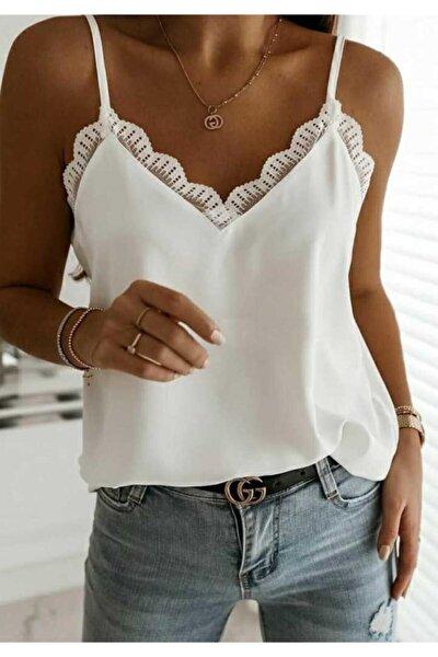 Sandy Kumaş Askılı Bluz