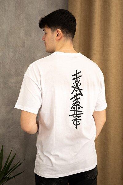 Oversize Japon Figür T-shirt