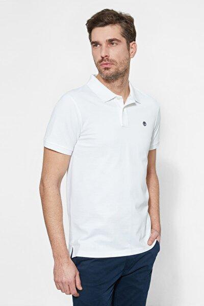 Erkek    T-Shirt Ca1S4J100 Tımberland Ss Mıllers Rıver Pol Whıte Whıte