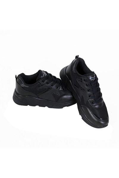 437 Bağlı Siyah-siyah Anoraklı Spor Ayakkabı