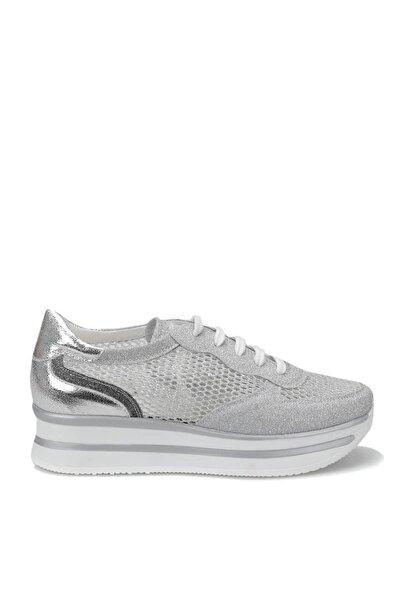 19S-003 Gümüş Kadın Kalın Taban Sneaker Spor Ayakkabı 100372599