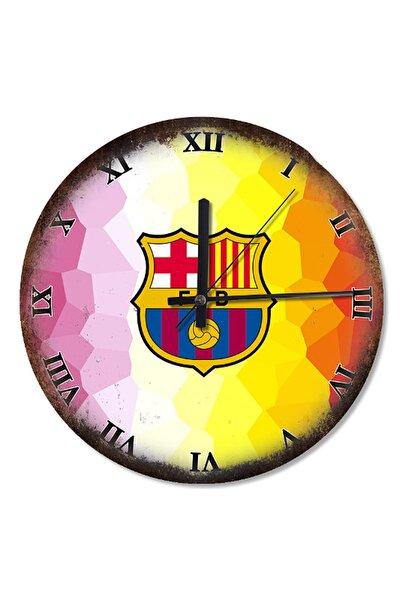 30 Cm Çap FC Barcelona Arması Analog Duvar Saati