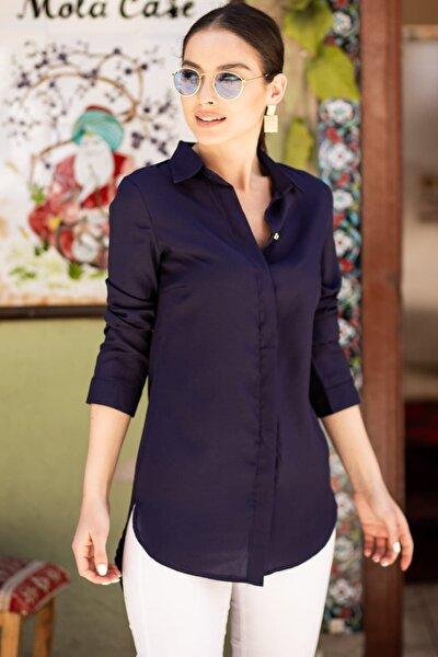 Kadın Lacivert Tunik Gömlek ARM-19Y001003