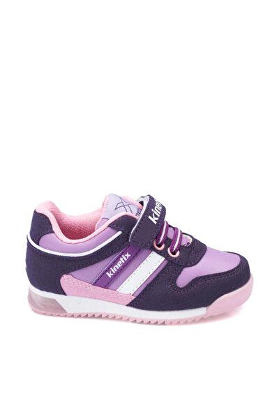 Femand Pu Mor Pembe Beyaz Kız Çocuk Sneaker Ayakkabı 100268435
