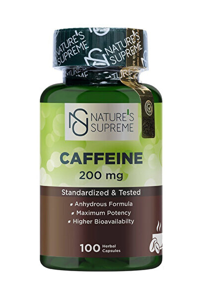 Caffeine 200 mg 100 Kapsül 8681763380787