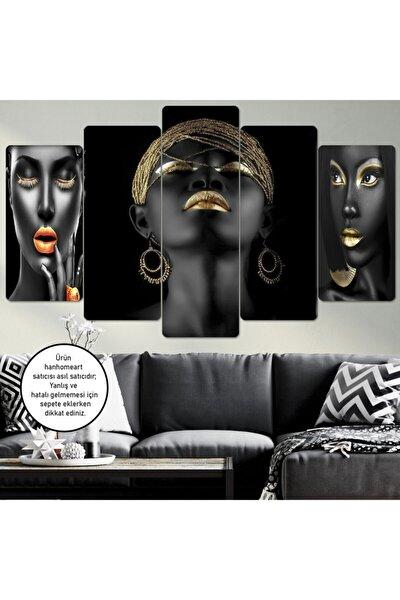 Afrikalı Kadın Ahşap Duvar Tablo Seti