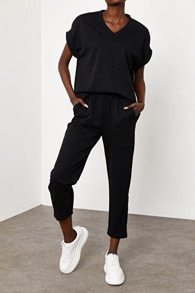 Kadın Siyah V Yaka İkili Takım 1KZK8-11689-02