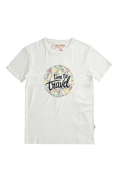 Tıme To Travel Tee Beyaz Kısa Kollu Tişört