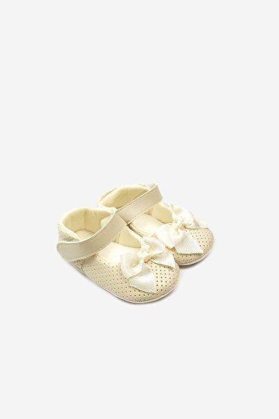 Fiyonklu Cırtlı Bebek Ayakkabı