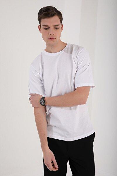 Unisex Siyah Beyaz Renk Beden Seçenekli Baskı Yapılabilen Oversize Basic Bol T-shirt
