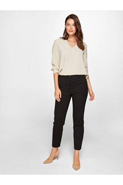Kadın Siyah Slim Fit Vücut Şekillendiren Pantolon 00046