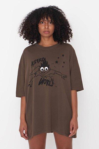 Baskılı T-shirt P9527 - H11