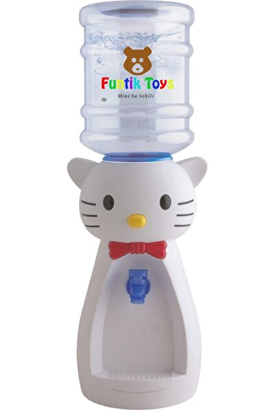Çocuklar Için Hayvan Figürlü Su Sebili Beyaz Kedi